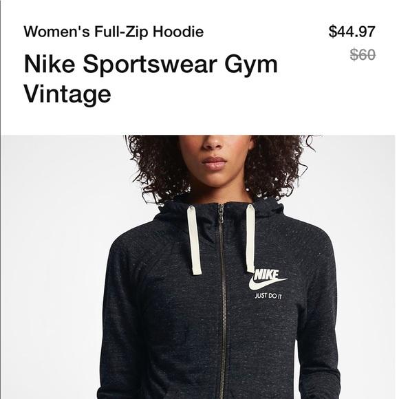 Nike Sportswear Gym Vintage Full Zip Hoodie
